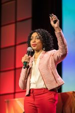 In Action-Speaking to an international audience of thousands!!!!