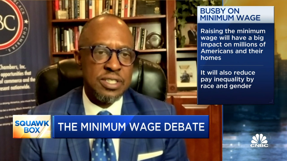 U.S. Black Chambers CEO Ron Busby on support for federal minimum wage increase.