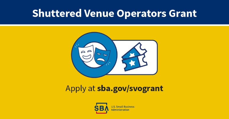 SBA Reopens Shuttered Venue Operators Grants for Applications